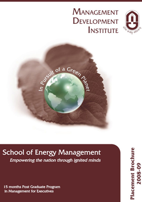 brochure design for MDI Management and Development Institute