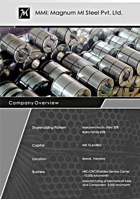 Brochure design for Magnum MI Steel Tube Manufacturing Company